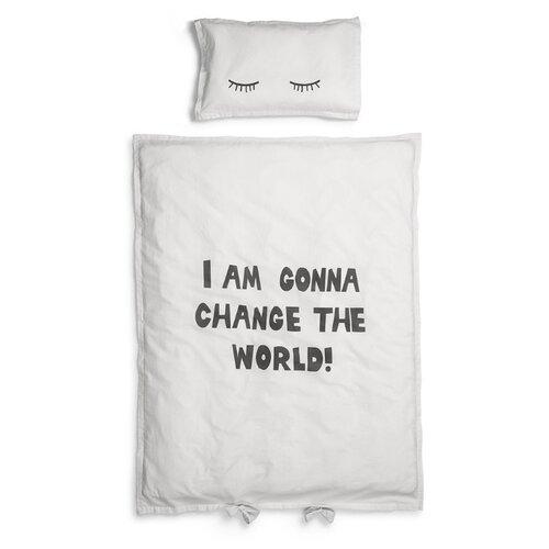 Купить Elodie комплект в кроватку Change the World (2 предмета) белый, Постельное белье и комплекты