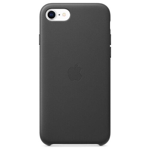 Купить Чехол Apple кожаный для Apple iPhone SE (2020) черный
