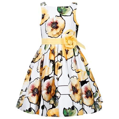 Платье ColoriChiari размер 158, белый/цветочный принт