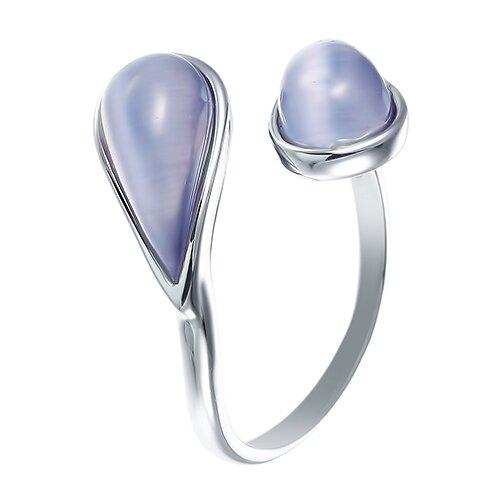 ELEMENT47 Кольцо из серебра 925 пробы с ювелирным стеклом SR1626_KO_US_002_WG, размер 17