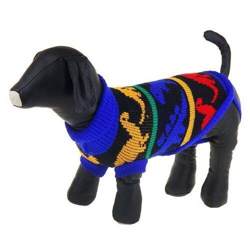 Свитер для собак Пижон размер 14 с динозаврами