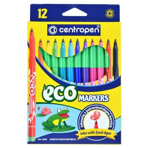 Купить Centropen Набор фломастеров ECO Markers, 12 шт. (2560), Фломастеры и маркеры