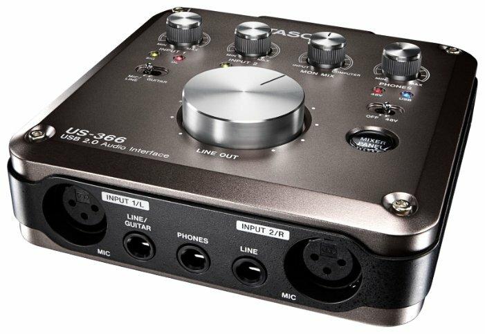 Внешняя звуковая карта с USB TASCAM US-366
