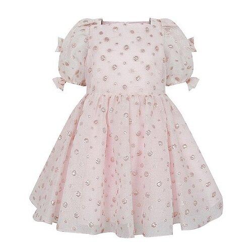 Платье David Charles размер 116, розовый/горошек