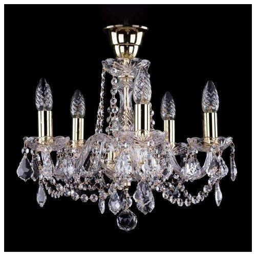 Люстра Bohemia Ivele Crystal 1402 1402/5/141/G/Leafs/Tube, E14, 200 Вт bohemia ivele crystal 1402 5 141 g tube