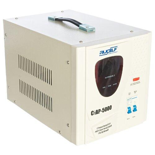 цена на Стабилизатор напряжения однофазный RUCELF СтАР-5000 (3.5 кВт) белый
