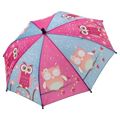 Зонт BONDIBON, голубой/фиолетовый с совятами.