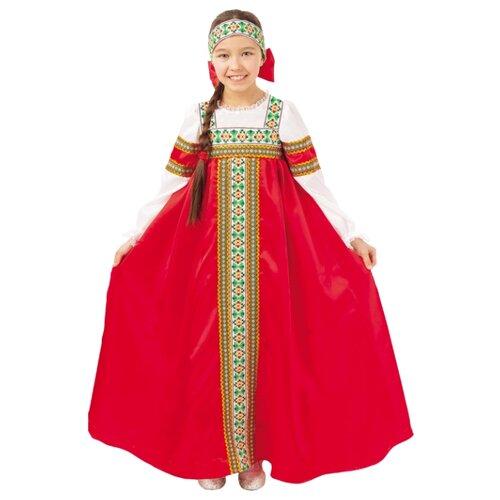Купить Костюм пуговка Марьюшка (2016 к-18), красный/белый, размер 110, Карнавальные костюмы
