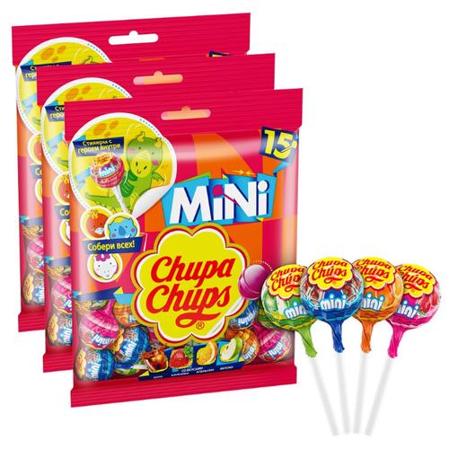 Карамель Chupa Chups mini ассорти, 3 шт.