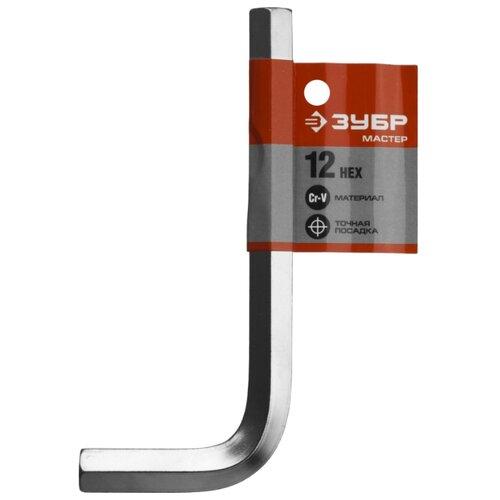 Ключ шестигранный ЗУБР 27453-12 118 мм ключ hazet 600n 12 12 мм