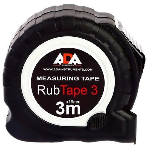 Измерительная рулетка ADA instruments RubTape 3 16 мм x 3 м рулетка topex 27c343 19 мм x 3 м