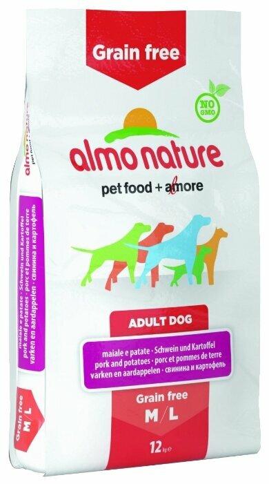 Корм для собак Almo Nature Holistic для здоровья костей и суставов, свинина с картофелем 12 кг