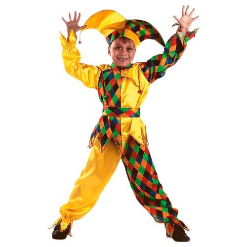 Купить Костюм Батик Звездный маскарад Шут-Карамболь (449), желтый, размер 140, Карнавальные костюмы