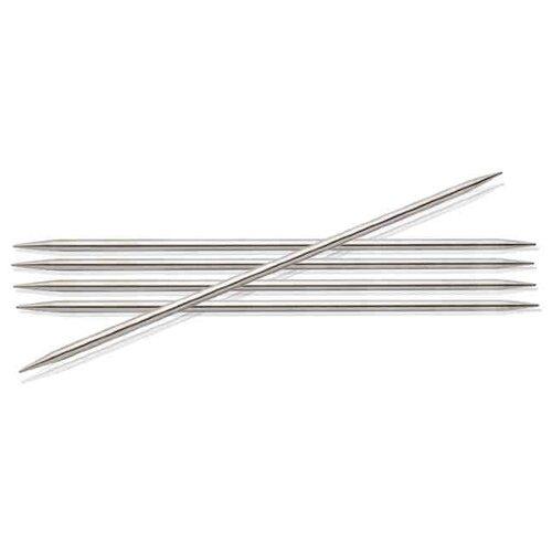 Купить Спицы Knit Pro Nova Metal 10107, диаметр 3.5 мм, длина 20 см, серебристый