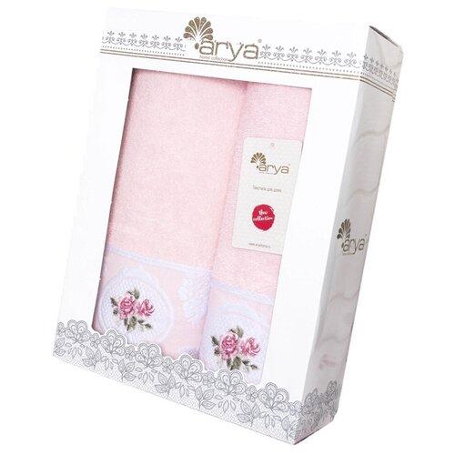 Arya Набор полотенец Rosalina банное розовый