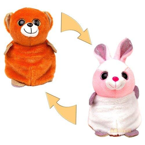 Мягкая игрушка Junfa Toys Вывернушка Зайка-Медведь 16 см