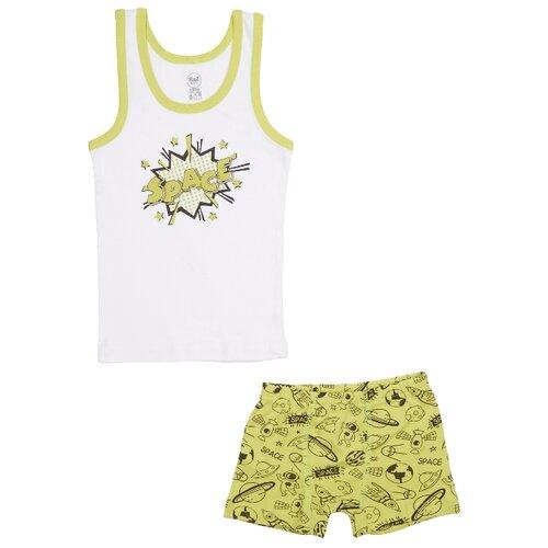 Купить Комплект нижнего белья RuZ Kids размер 128-134, белый/хаки, Белье и пляжная мода