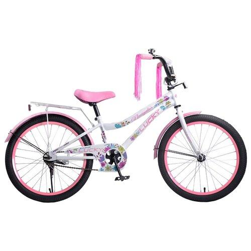 Подростковый городской велосипед Navigator Lucky (ВН20185) белый/розовый (требует финальной сборки)Велосипеды<br>