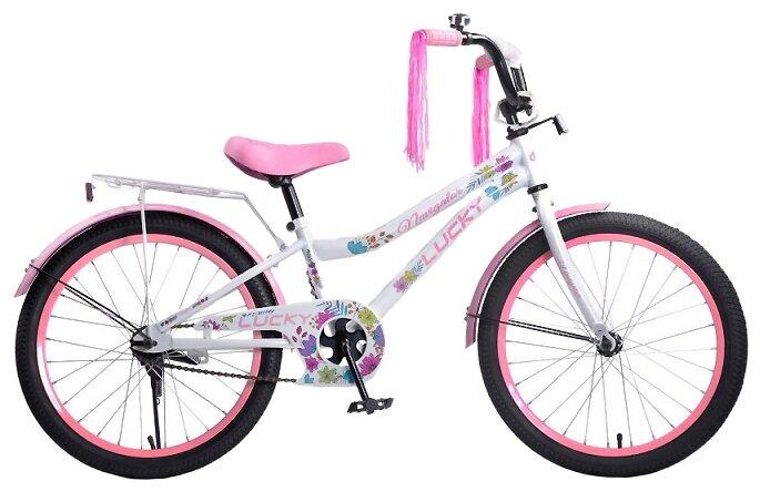 Подростковый городской велосипед Navigator Lucky (ВН20185) белый/розовый (требует финальной сборки)