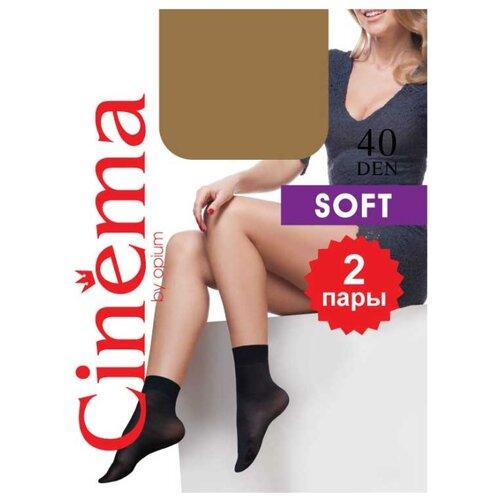 Капроновые носки Cinema Soft 40 den 2 пары Opium, one size, daino гольфы cinema by opium soft 20den naturel 2 пары