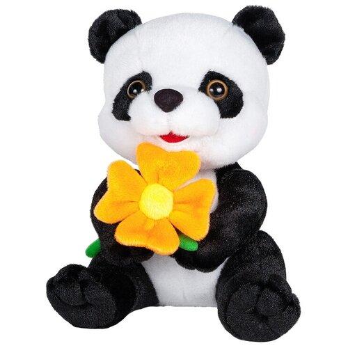 Купить Мягкая игрушка Maxitoys Панда с цветочком 22 см, Мягкие игрушки