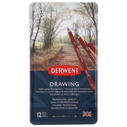 Derwent Цветные карандаши Drawing, 12 цветов (0700671)
