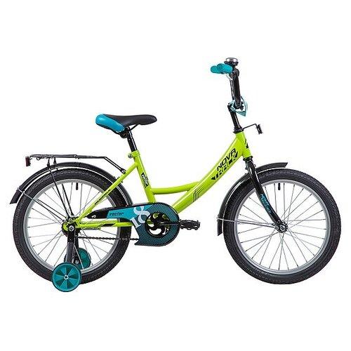 Детский велосипед Novatrack Vector 18 (2019) зеленый (требует финальной сборки) детский велосипед novatrack vector 18 2019 серебристый требует финальной сборки