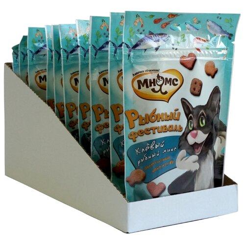 Лакомство для кошек Мнямс Микс Рыбный фестиваль, 50 г х 10 уп. (шоу бокс)