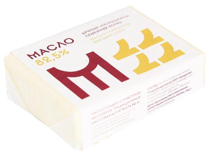 Братья Чебурашкины Масло сладко-сливочное несоленое традиционное 82.5%, 200 г