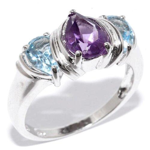 Silver WINGS Кольцо с топазами и аметистами из серебра 21gr0268amsb-90-75, размер 17 silver wings кольцо с топазами из серебра 210047 32 54 размер 17