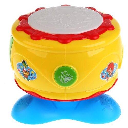 Развивающая игрушка Умка Развивающий барабан. Песни из мультфильмов желтый/голубой/красный