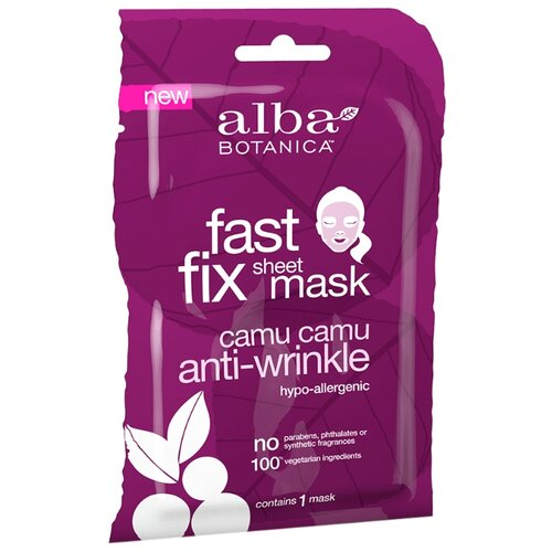 Alba Botanica Fast Fix Sheet Mask Camu Camu Anti-Wrinkle тканевая лифтинг - маска против морщин очищающее средство alba botanica