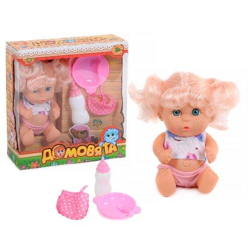 Купить Пупс Yako Домовята блондинка с хвостиками, 22 см, M7579-2, Куклы и пупсы