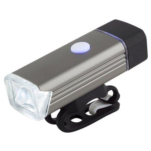 Передний фонарь ECOS VEL-06 серебристый/черный vel vel 03 01 02 00400 лев рычащий