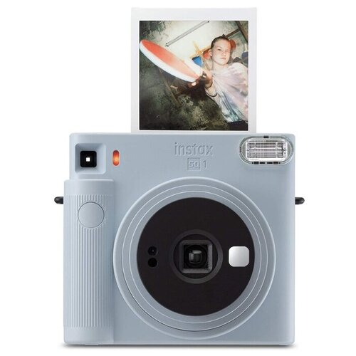 Фотоаппарат моментальной печати Fujifilm Instax SQUARE SQ1, голубой фотоаппарат fujifilm instax square sq6 ruby red