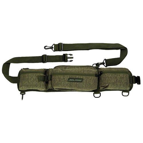 Поясная сумка для охоты, для рыбалки SOLARIS S5403 65х7х13.5 см серый хаки хамелеон
