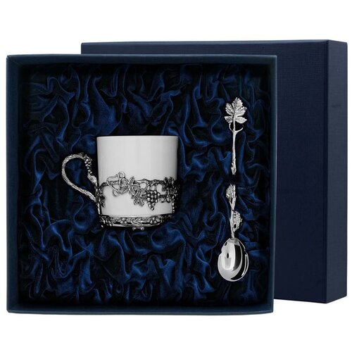 Фото - АргентА Набор чашка кофейная Виноград + ложка (2 предмета) аргента набор чашка чайная виноград ложка 2 предмета