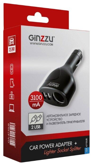 Автомобильная зарядка Ginzzu GA-4715UB — купить по выгодной цене на Яндекс.Маркете