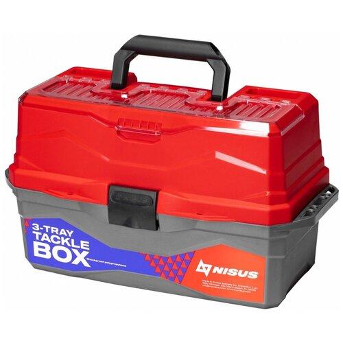 Ящик для рыбалки Nisus N-TB-3 44.5х25х22 см красный