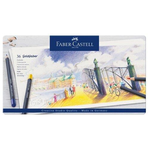 Faber-Castell Карандаши цветные Goldfaber, 36 цветов (114736), Цветные карандаши  - купить со скидкой