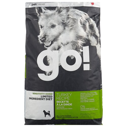 Сухой корм для собак GO! Sensitivity + Shine индейка 11.3 кг