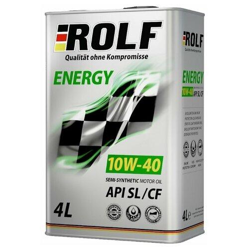 Полусинтетическое моторное масло ROLF Energy 10W-40 SL/CF, 4 л полусинтетическое моторное масло bardahl xtc 10w 40 sl cf 4 л