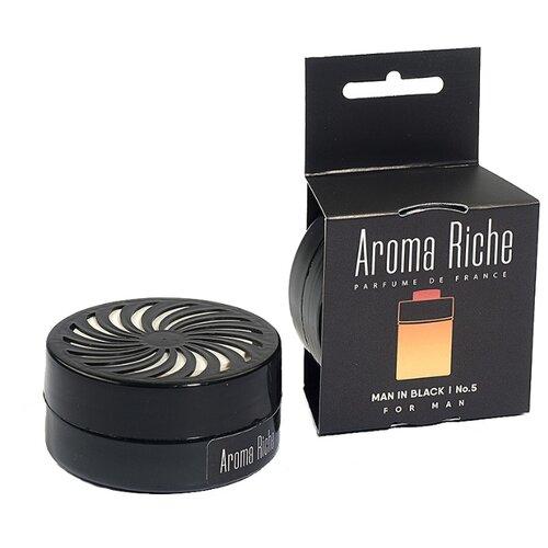 Автолидер Ароматизатор для автомобиля, Aroma Riche мужской, Man in Black №5 50 г ароматизатор автомобильный aroma car speed black на дефлектор ac92313