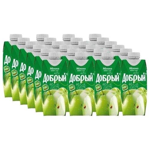 Фото - Сок Добрый Яблоко, с крышкой, без сахара, 0.33 л, 24 шт. нектар juicer облепиха без сахара 0 25 л 10 шт