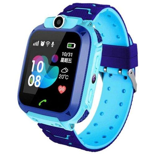 Детские умные часы Smart Baby Watch Q12, голубой/синий детские умные часы smart baby watch kt16 голубой