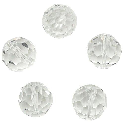 Купить Z-490 Бусины стеклянные, 15 мм, упак./5 шт., 'Астра' (802), Astra & Craft, Фурнитура для украшений