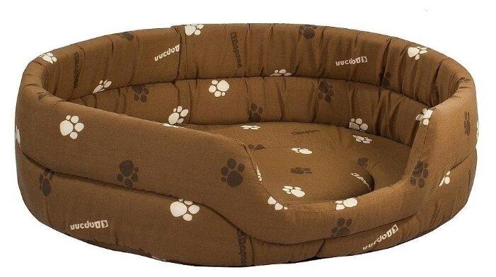 Лежак для собак и кошек Дарэлл Овальный стёганый 9143 64х51х17 см