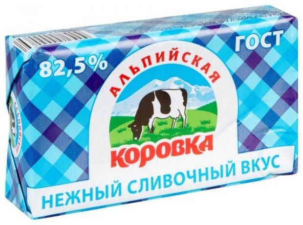 Альпийская коровка Спред растительно-сливочный 82.5%, 180 г