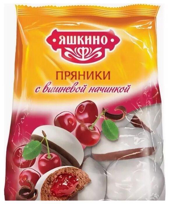 Пряники воздушные Яшкино с вишневой начинкой, 350 г