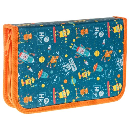 Купить ArtSpace Пенал Cosmos (ПТ1_29082) синий/оранжевый, Пеналы